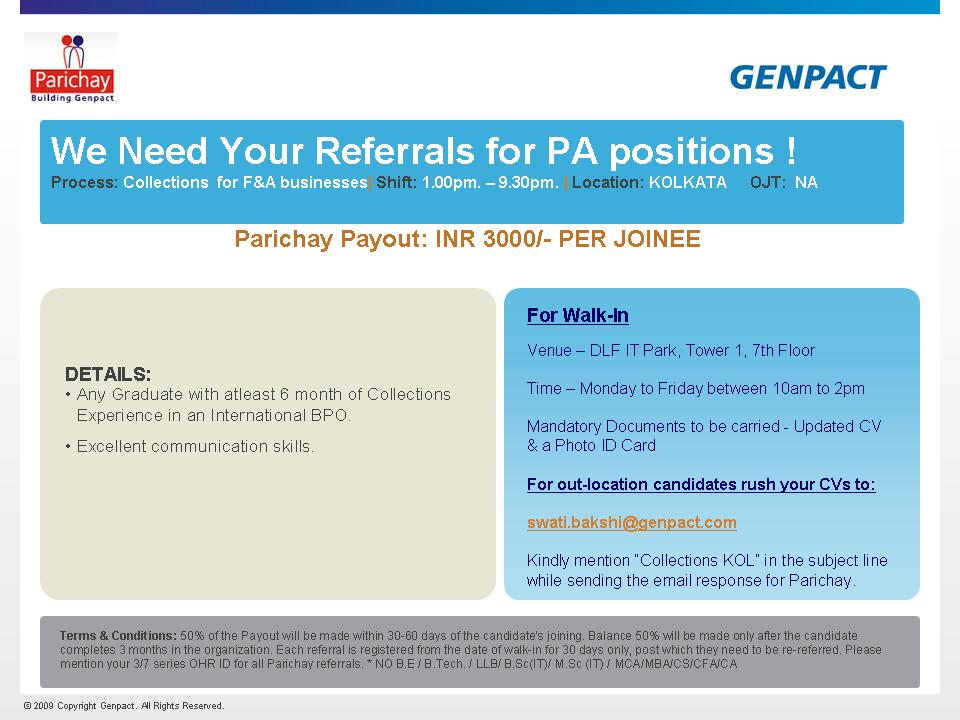 Genpact | Referral Jobs | Right Place to Get a Job